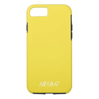 Coque iPhone 8/7 Professionnel moderne jaune avec le monogramme