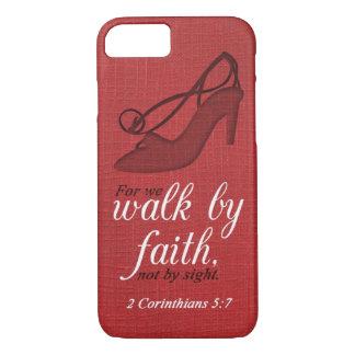 Coque iPhone 8/7 Promenade par citation de vers de bible de 5:7 de