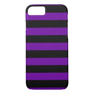 Coque iPhone 8/7 Rayures noires et pourpres horizontales