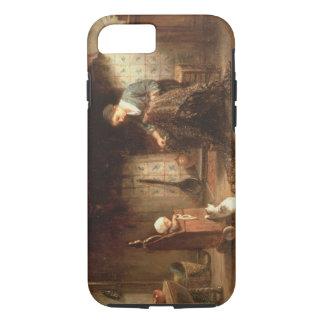 Coque iPhone 8/7 Réparant les filets (huile sur le panneau)
