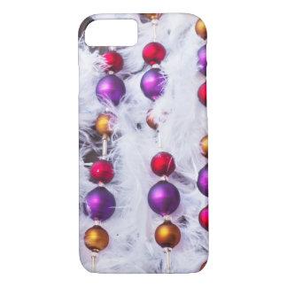 Coque iPhone 8/7 Rétro arrière - plan de décoration d'arbre de Noël