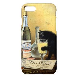 """Coque iPhone 8/7 Rétro français """"bourgeois d'absinthe """""""