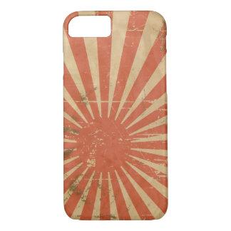 Coque iPhone 8/7 Rétro Soleil Levant japonais frais. Cru