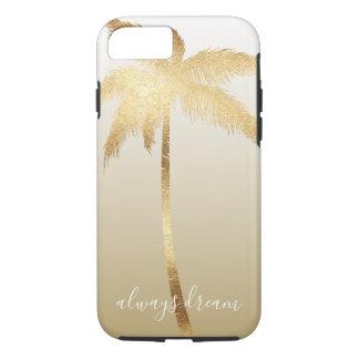 Coque iPhone 8/7 Rêve Ombre de palmier d'or
