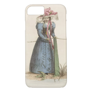 Coque iPhone 8/7 Robe de promenade, plat de mode d'Ackermann au