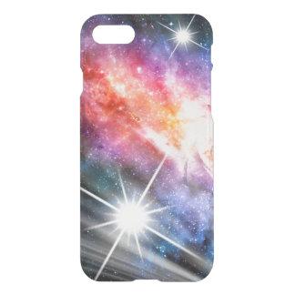 Coque iPhone 8/7 Rose bleu de nova de galaxie de l'espace de
