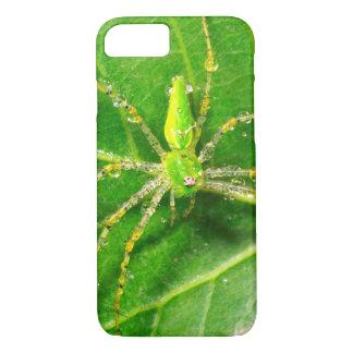 Coque iPhone 8/7 Rosée sur une araignée verte de Lynx