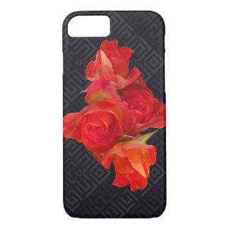 Coque iPhone 8/7 Roses vibrants sur l'arrière - plan élégant
