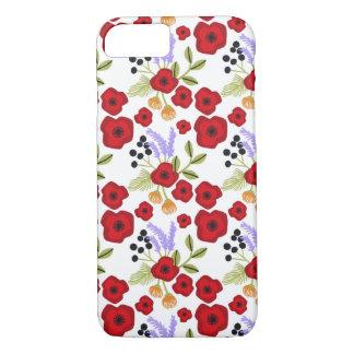 Coque iPhone 8/7 Rouge floral de pavot