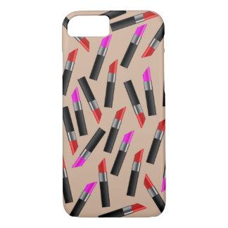 Coque iPhone 8/7 Rouges à lèvres rouges et roses. Maquilleur