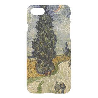 Coque iPhone 8/7 Route de Vincent van Gogh | avec des cyprès, 1890