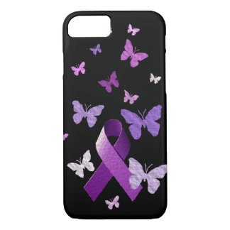 Coque iPhone 8/7 Ruban pourpre de conscience