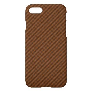Coque iPhone 8/7 Rustique-Comme Brown foncé et rayures plus brun