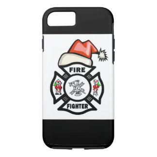 Coque iPhone 8/7 Sapeur-pompier le père noël