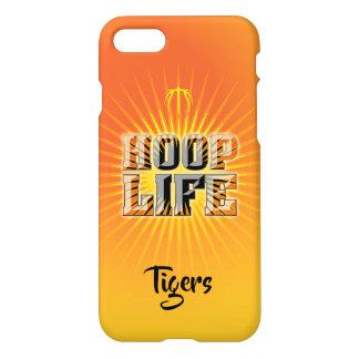 Coque iPhone 8/7 Série de basket-ball de la vie de cercle orange,
