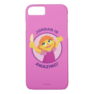 Coque iPhone 8/7 Sesame Street | Julia tenant la plume