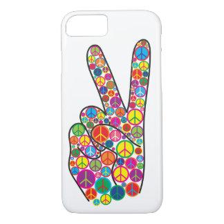 Coque iPhone 8/7 Signes de paix super colorés frais