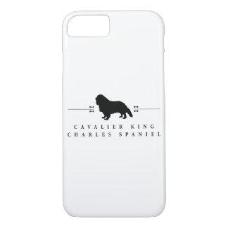 Coque iPhone 8/7 Silhouette cavalière -1- d'épagneul du Roi Charles