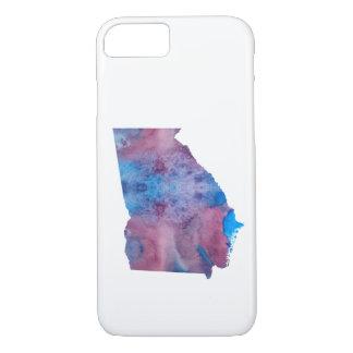 Coque iPhone 8/7 Silhouette colorée de la Géorgie