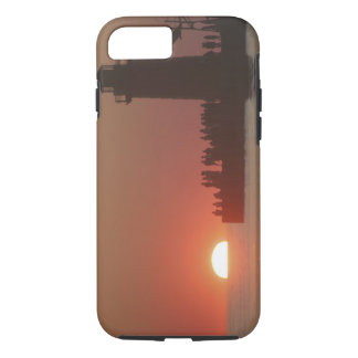 Coque iPhone 8/7 Silhouette de coucher du soleil de phare de
