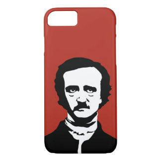 Coque iPhone 8/7 Silhouette d'Edgar Allan Poe