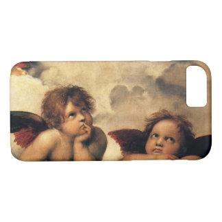 Coque iPhone 8/7 Sistine Madonna, détail d'anges par Raphael