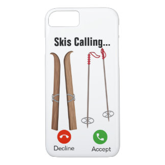 Coque iPhone 8/7 Skis appelle… iPhone 7/8 cas