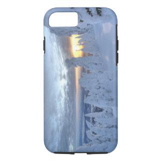 Coque iPhone 8/7 Snowghosts au coucher du soleil à la montagne de