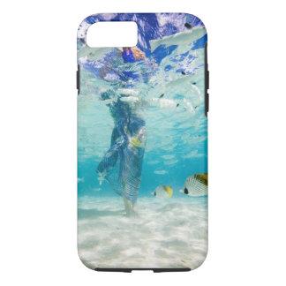 Coque iPhone 8/7 South Pacific, Bora Bora, marche de touristes