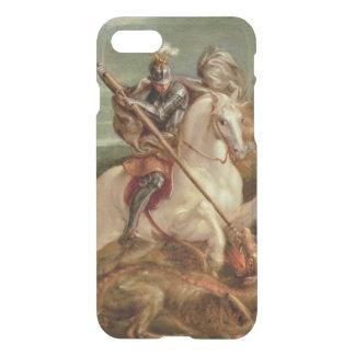 Coque iPhone 8/7 St George massacrant le dragon, (huile sur le