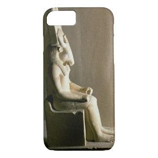 Coque iPhone 8/7 Statue du dieu Montu avec la tête d'un taureau, f