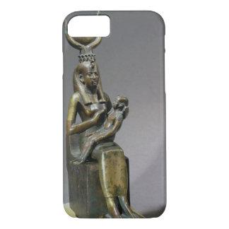 Coque iPhone 8/7 Statuette d'ISIS et de l'enfant Horus de déesse