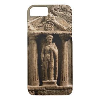 Coque iPhone 8/7 Stele votif de marbre et de grès avec le figu