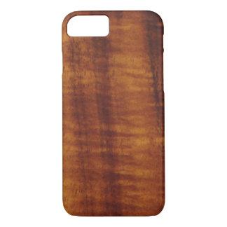 Coque iPhone 8/7 Style hawaïen bouclé en bois de Koa