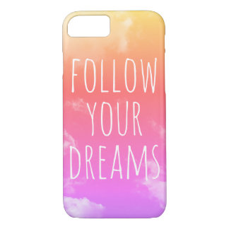 Coque iPhone 8/7 Suivez vos rêves inspirant l'iPhone de citation