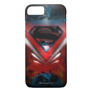Coque iPhone 8/7 Superman a stylisé le logo futuriste de |