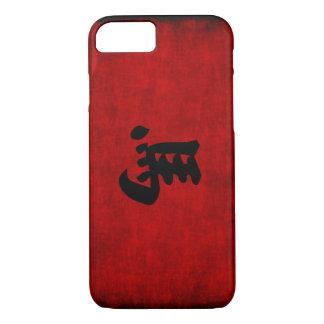 Coque iPhone 8/7 Symbole chinois de calligraphie pour le cheval en