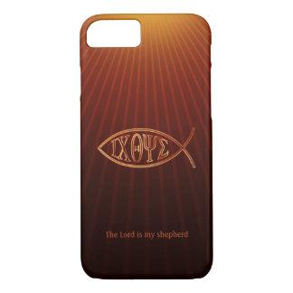 Coque iPhone 8/7 Symbole chrétien élégant Ichthys de poissons
