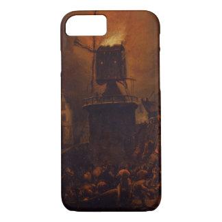 Coque iPhone 8/7 T30554A le moulin à vent brûlant, 1662 (panneau)