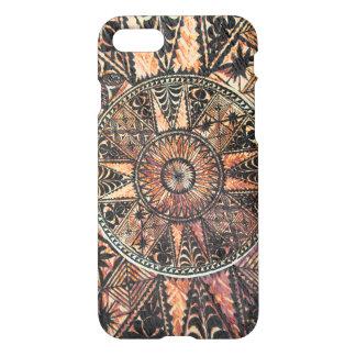 Coque iPhone 8/7 Tapa hawaïen primitif de tatouage de Kapa