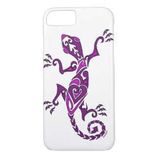 Coque iPhone 8/7 Tatouage/henné de lézard dans le pourpre