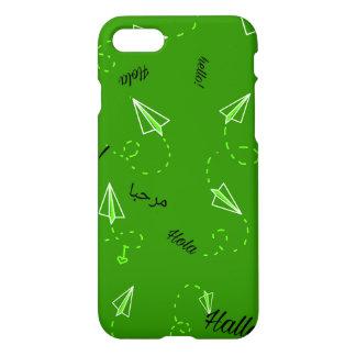 Coque iPhone 8/7 Téléphone orienté de voyage Coque-Vert
