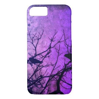 Coque iPhone 8/7 Tentative de meurtre : Corneilles, rose/cieux