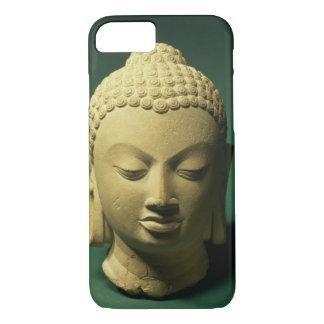Coque iPhone 8/7 Tête du Bouddha, Sarnath (grès)