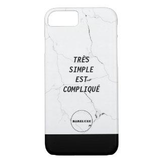 Coque iPhone 8/7 Texte SIMPLE minimal de marbre de logo de l'est