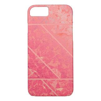 Coque iPhone 8/7 texture de marbre rose de cas de l'iPhone 7