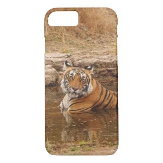 Coque iPhone 8/7 Tigre de Bengale royal dans l'étang de jungle, 2