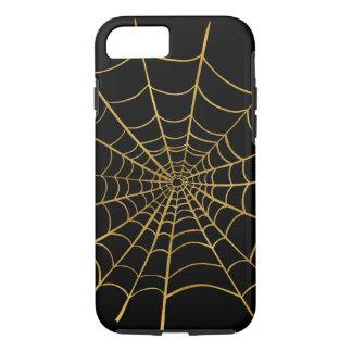Coque iPhone 8/7 Toile d'araignée d'or
