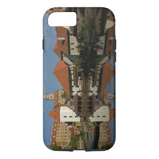 Coque iPhone 8/7 Tour de château, rivière de Vltava, Cesky Krumlov,