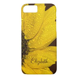 Coque iPhone 8/7 Tournesol personnalisé floral